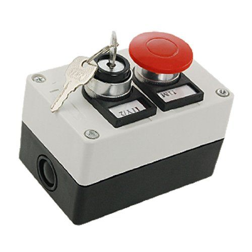 uxcell Key Lock on/off Switch Red Mushroom Push Button Station uxcell http://www.amazon.com/dp/B008ZY9CXE/ref=cm_sw_r_pi_dp_WuF2wb00PQN94