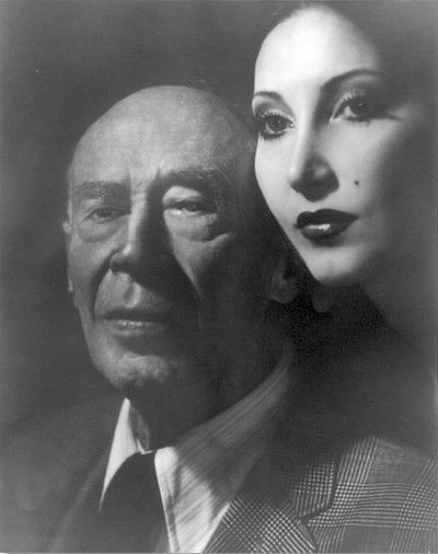 Henry Miller and Anais Nin,photographer unknown.