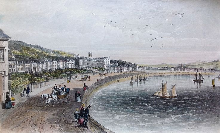 Case Study Site 23 – Minehead to Clevedon - CHeRISH Management  Figure 23.10: This fine lithograph shows the elegant properties lining the seafront of Weston-Super-Mare in about 1855.  Such images, of which there are many for most coastal towns, allow us to trace changes to Listed Buildings and Conservation Areas through the rapid development in the Victorian and Edwardian eras.