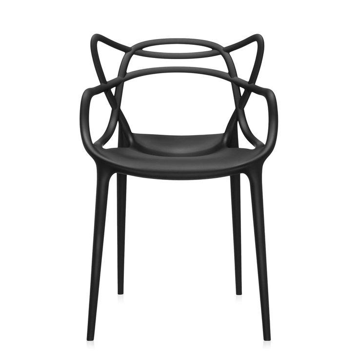 Kartell - Masters Stuhl, schwarz Schwarz T:47 H:84 B:57