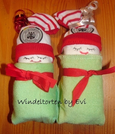 *Originelles Geburts-Geschenk für den Fussballfan / werdenden Vater!  German Socker Diaper Babies ;-)