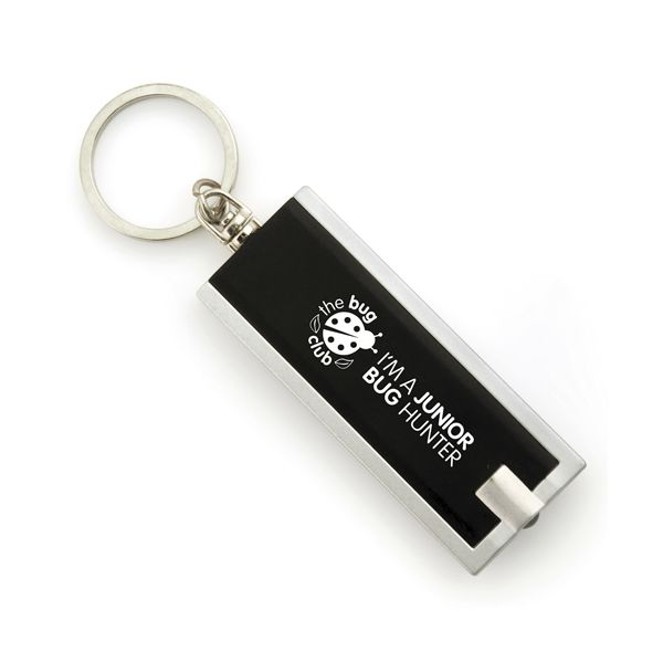 Dhaka LED Keyring Torch is a sleek and stylish promotional gift that is available in multiple colours. A great unique promotional idea that gives off a corporate look and feel. With a large print area, this promotional keyring torch is perfect for getting your brand out to people when handing these out at events or to your own company. The branded keyring torch comes with batteries, that can be replaced and will be appreciated by anyone who will receive such a fantastic item of quality.