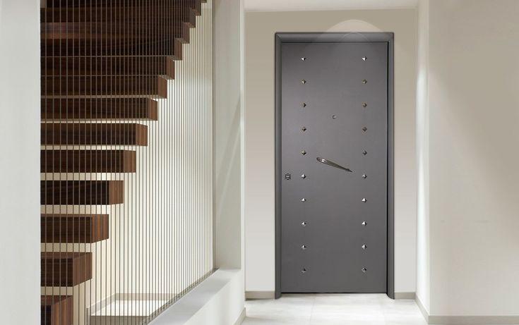 Contemporary double front doors security doors golden for Double security doors