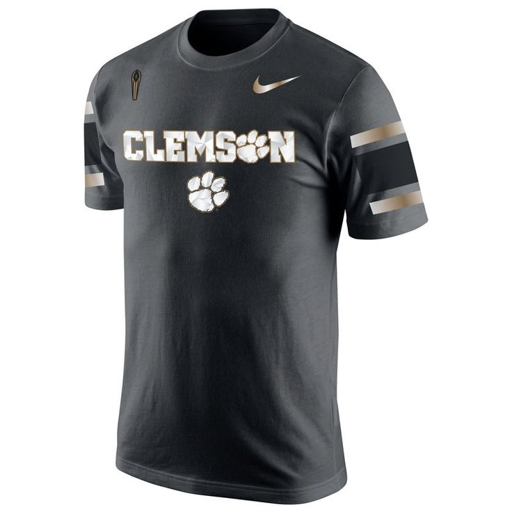 Clemson Tigers Nike College Football Playoff 2016 National Champions Celebration Wordmark T-Shirt - Anthracite
