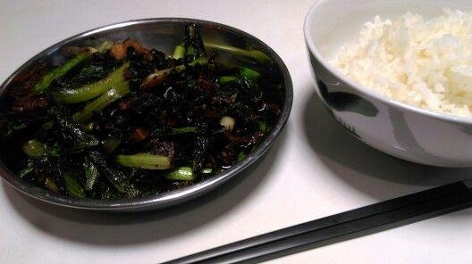 20160503 油麥菜豆豉鯪魚