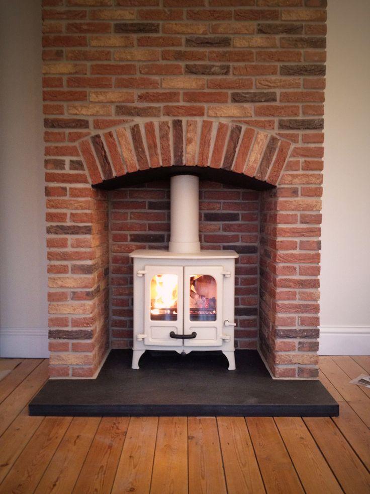 Brick Fireplace Surround Woodburner Google Search Red