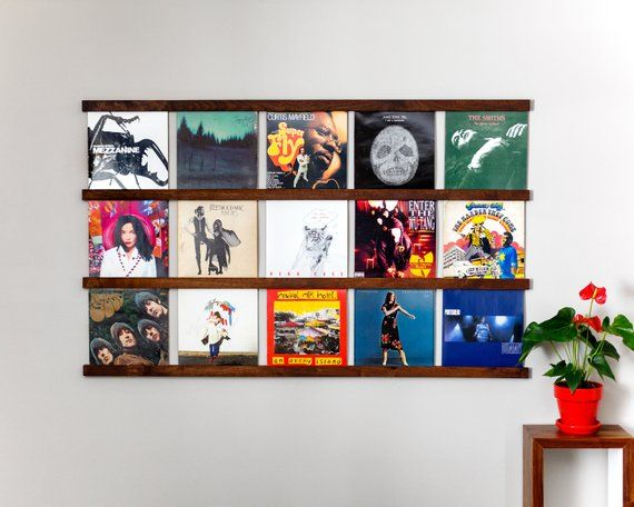Vinyl Record Storage Shelf Wall Mounted Record Holder Record