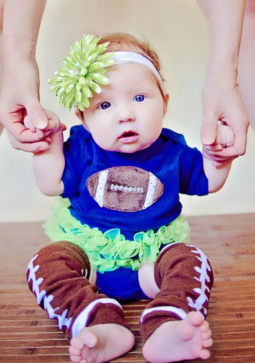 Boutique Seahawks Onesy!! Celebrate your sports team with this adorable football tutu onesy!!