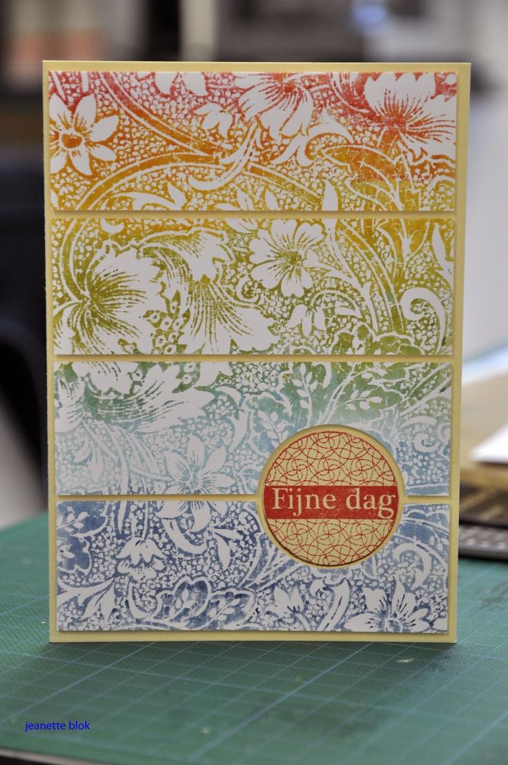 Zie blog voor techniek, also Heroarts: rainbow distress inking: Distressed Ink