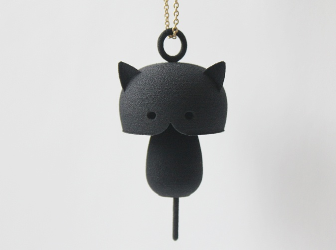 3D printed cat pendant!  http://www.shapeways.com/shops/rustylab
