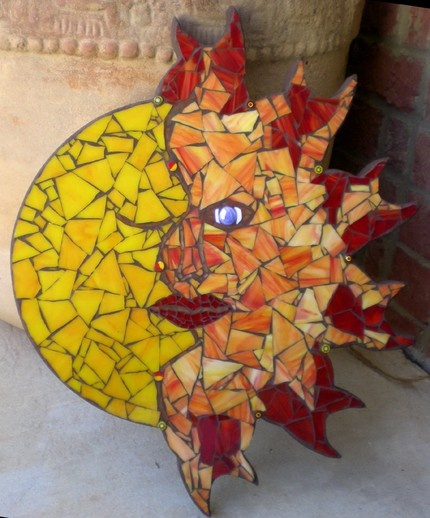18 best sun moon images on pinterest art google moon for Mosaic painting meaning