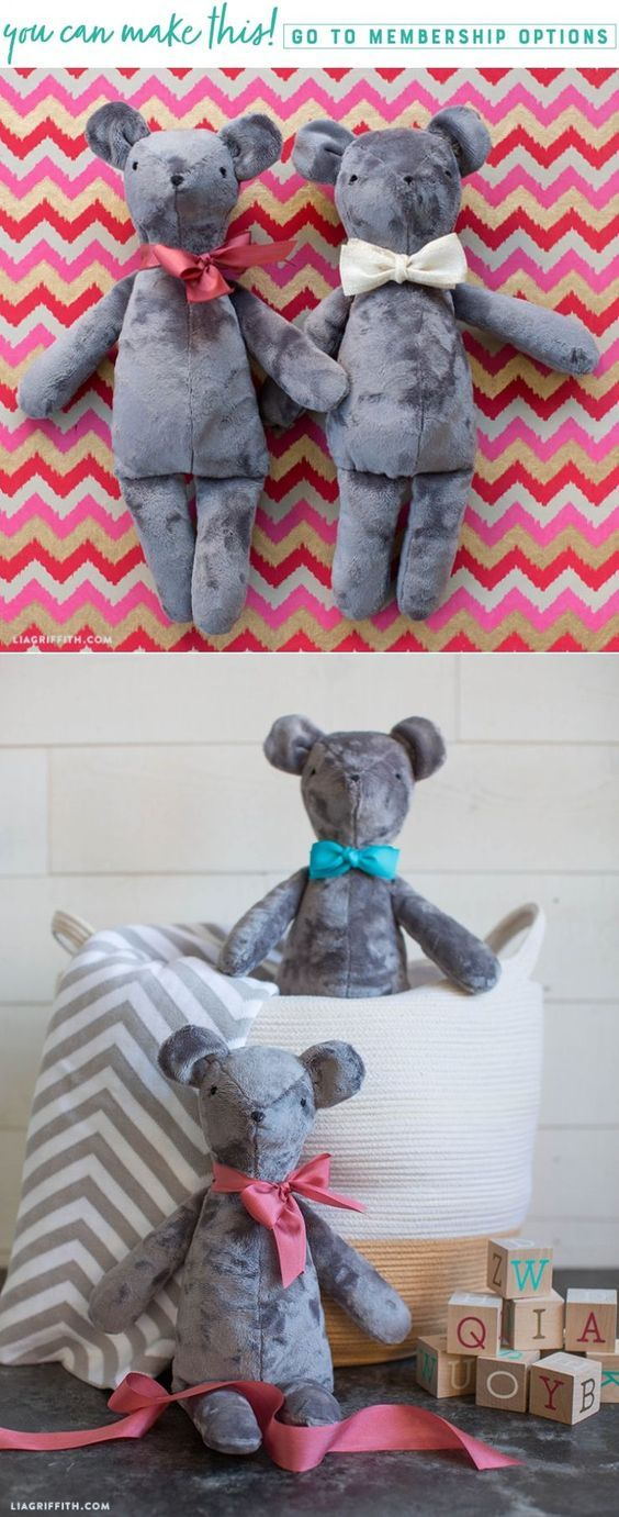 DIY Teddy Bears - Lia Griffith - www.liagriffith.com #spons @fabricsdotcom #diygift #diygifts #sewing #diytoy #diytoys #diykids #stuffedanimals #madewithlia