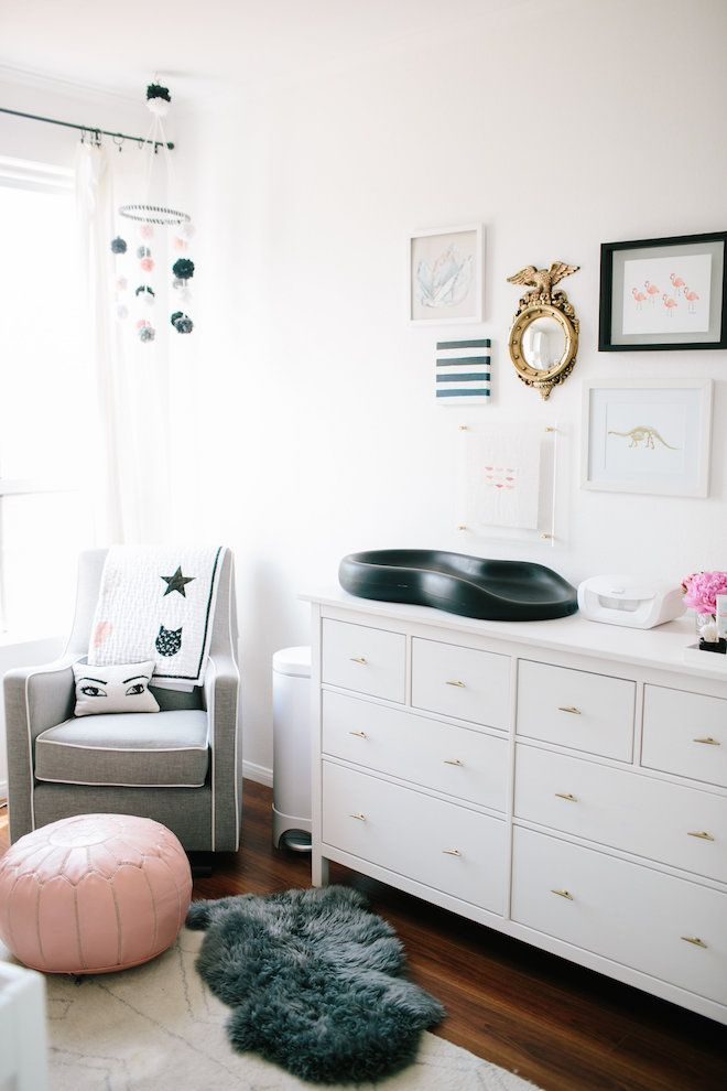 Sweet Nursery With Pink And Gray