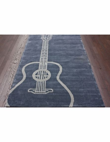 If I ever have a music room...or heck, why not just because! ..... Large Guitar Rug in Gray