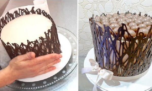 A Cerca de Chocolate para Bolos é uma ideia prática, econômica, charmosa e deliciosa para decorar os seus bolos. Pegue todas as dicas e faça. Com ela, sua