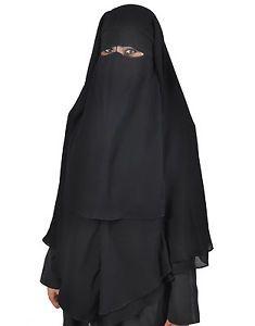Extra-lang-Niqab-Khimar-Kombi-Gesichtsschleier-Hijab-Islamische-Kleidung-HI0381