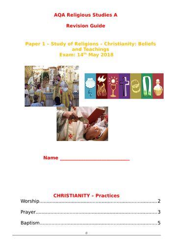 AQA A Religious Studies GCSE - Paper 1 - Christian Practices