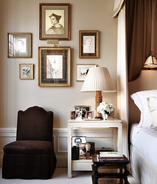 Alexa Hampton's bedroom- featured in WSJ