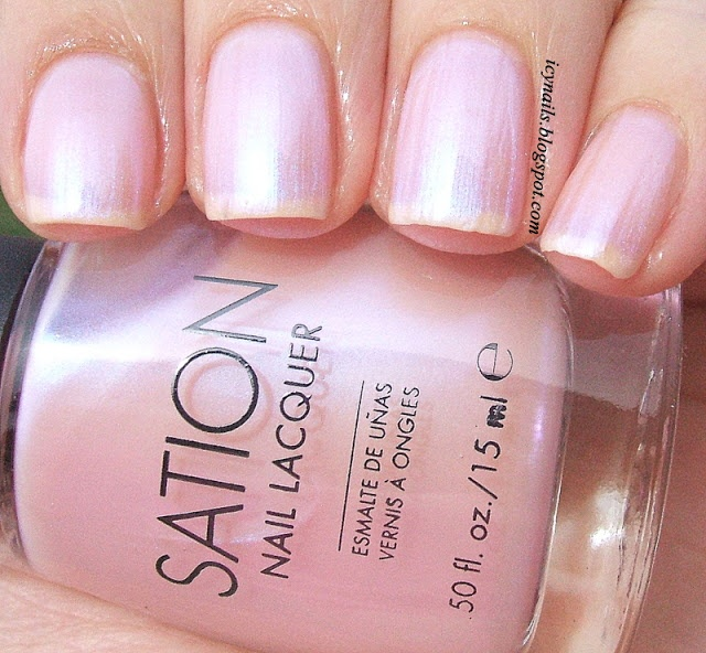 Cotton Candy Satin Fingernail Polish: Icy Nails Miss Sation Cotton Candy