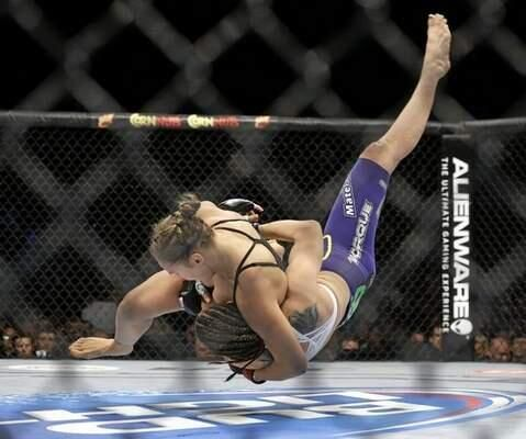 Ronda Rousey knocked out Alexis Davis @ UFC 175 in 16 seconds. I can only hope when I get into MMA I can be as great as her! #perfect10 #UndefeatedChampion