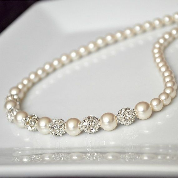 ivory pearl and rhinstone #pearls #girls in pearls