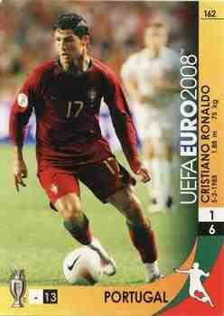 Cristiano Ronaldo of Portugal. Euro 2004 card.
