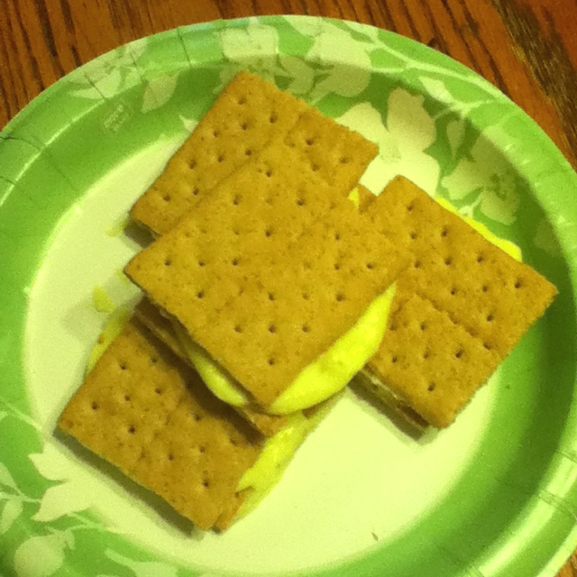 Ice cream sandwiches, Graham crackers and Cool whip on Pinterest