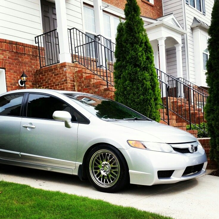 2008 Civic Si With 2009 Civic Si Front End, Skunk 2 Springs, Xxr 531 Wheels.