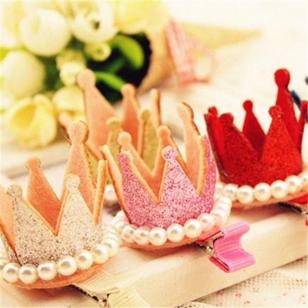 Новая корона шпильки для волос смолы алмазов Gliter жемчуг девушки принцесса короны диадемы детские рождественские танцы ну вечеринку зажим для резинки для волос волос купить на AliExpress