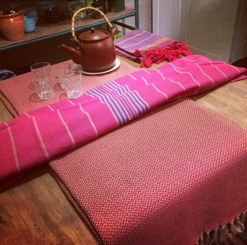 Home interior by Lena Losciale. Sweden. Walk in Beauty. Hamamthrow and hamamtowels.