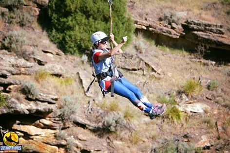 Rise and Shine with the #officialziplineofcolorado! Your morning zip adventure is now in session. Check out this lady's Colorado Threads leggings! Visit us onsite at 4 Eagle Ranch for your zipline attire. Happy Saturday zippers!