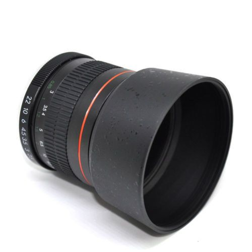 JinTu 85mm II F/1.8 Portrait Lens for Canon EOS 70D 60D 50D 7D 6D 5D 700D 650D