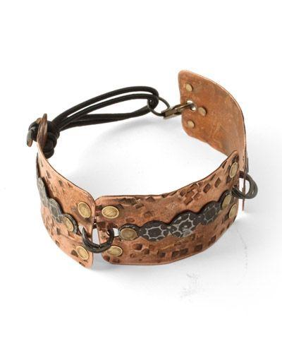 Metal Trio bracelet - How To: Cuffs Bracelets, Trio Bracelets, Copper Bracelets, Metals Cuffs, Jewelry Bracelets, Jewelry Metals Beads Wir, Inspiration Bracelets, Mixed Metals, Metals Trio
