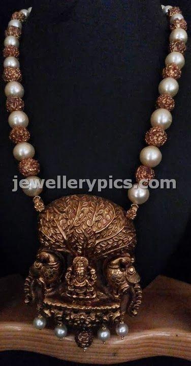 Gold Kalpavriksh lakshmi Pendent chain - Latest Jewellery Designs