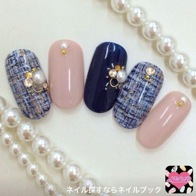 pink_cloverさんのソフトジェル,秋,ツイードネイル♪[603287]|ネイルブック (460038)