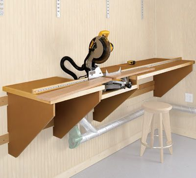 Miter Saw Work Station Woodworking Plan, Shop Project Plan | WOOD Store