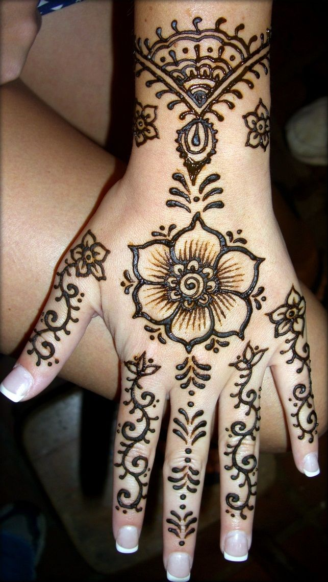 Indian Wedding Mehendi. I like this because its not too much but just enough
