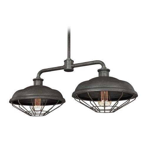 Farmhouse Barn Light Outdoor Hanging Light Grey Metal Feiss Lighting | F3156/2SGM | Destination Lighting