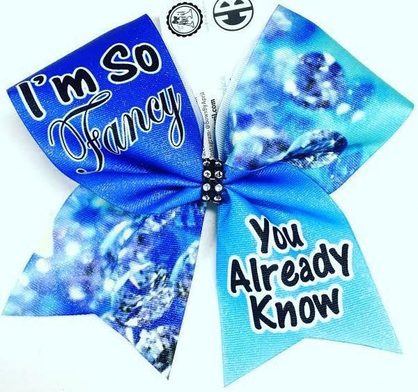 Bows by April - I'm So Fancy You Already Know Diamonds Sublimated Cheer Bow, $15.00 (http://www.bowsbyapril.com/im-so-fancy-you-already-know-diamonds-sublimated-cheer-bow/)