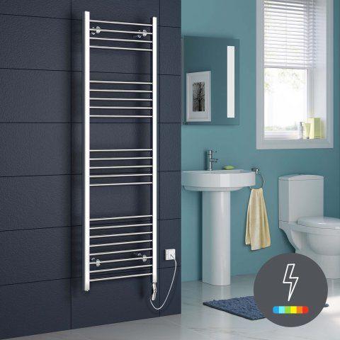 1600x500mm Chrome Thermostatic Electric Towel Radiator - Natasha [PT-RE159] - £249.99 : Platinum Taps & Bathrooms