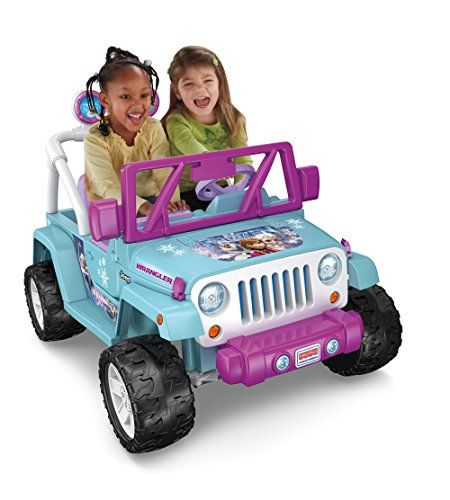 Realistic Jeep Wrangler styling Disney Frozen colors and graphics Working doors open & close.   toys4mykids.com