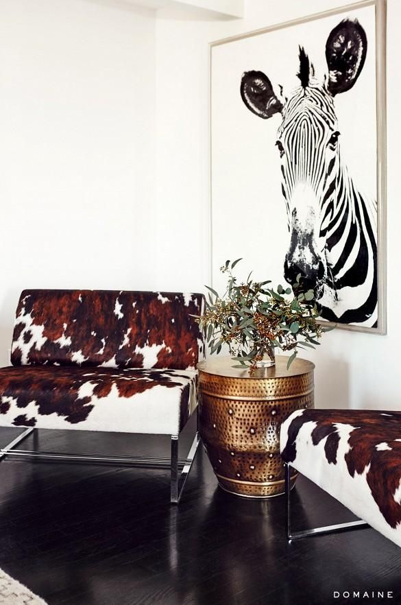 Exclusive: Tour Jessica Albau0027s Gorgeous Guesthouse. Cowhide ChairCow ...