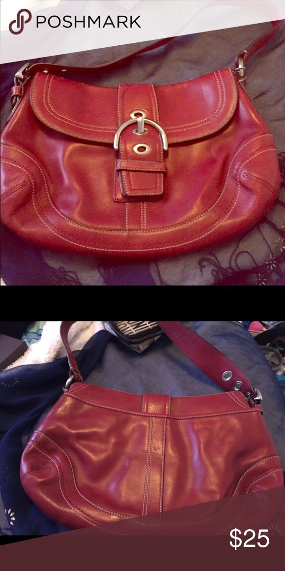 Red shoulder Bag Coach Bag👜 Coach Coach Bags Shoulder Bags