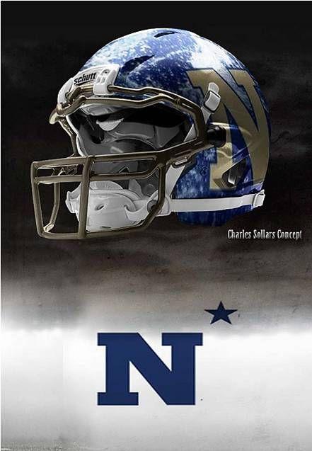 Navy - United States Naval Academy Midshipmen - concept football helmet