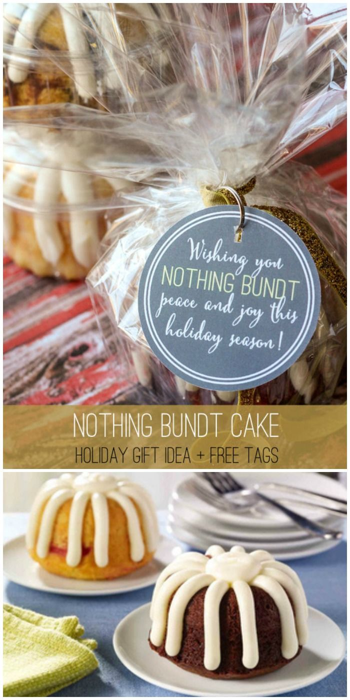 Nothing Bundt Cake Gift Ideas with free Birthday and Christmas tags on { lilluna.com }
