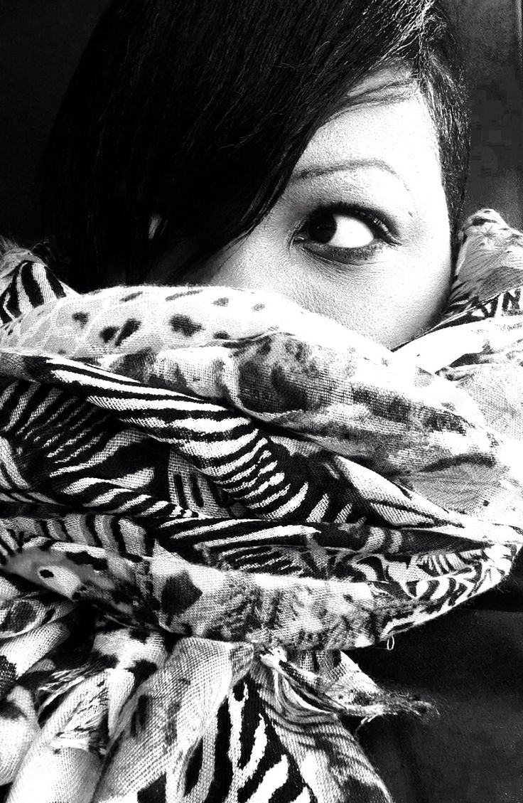 All wrapped up: #scarf #animalprint