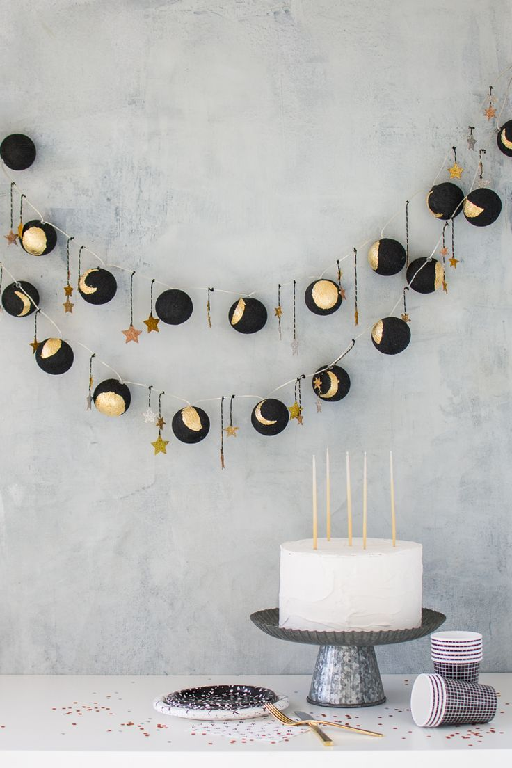 Moon Phase Lights decor theme for Halloween party | www.homeology.co.za