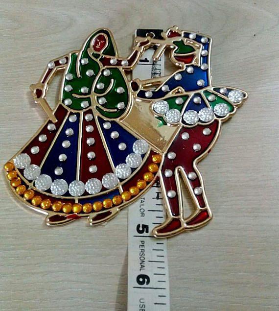 Traditional Dandiya Raas Rangoli Navratri Puja Thali Decor