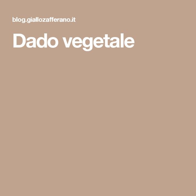 Dado vegetale