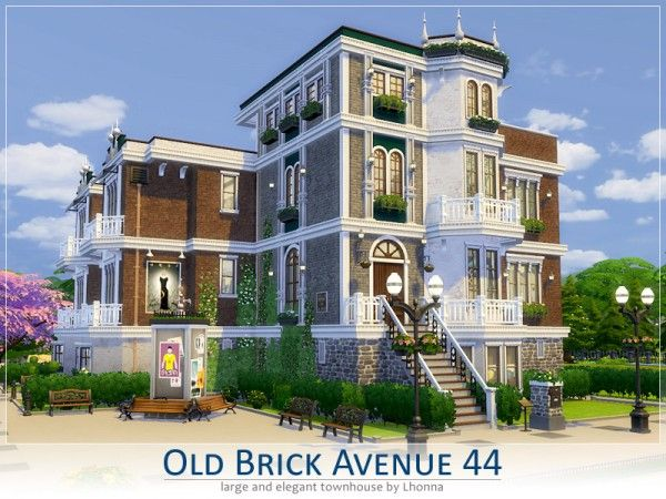 The sims resource old brick avenue 44 the queen 39 s house for Classic house sims 4